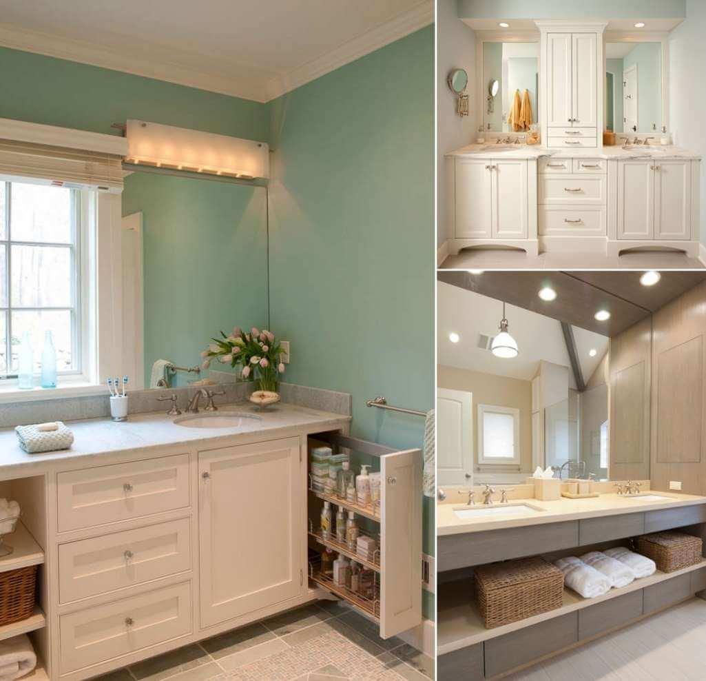 Master Bathroom Double Vanity Single Mirror