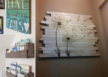 13 Cool Home Decor Projects to Make from Fence Wood fi