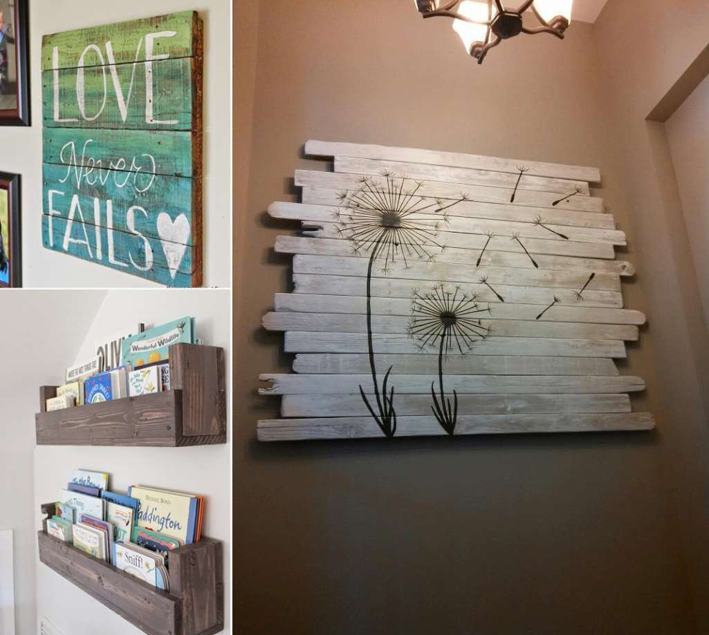 13 cool home decor projects to make from fence wood baanklon Image collections