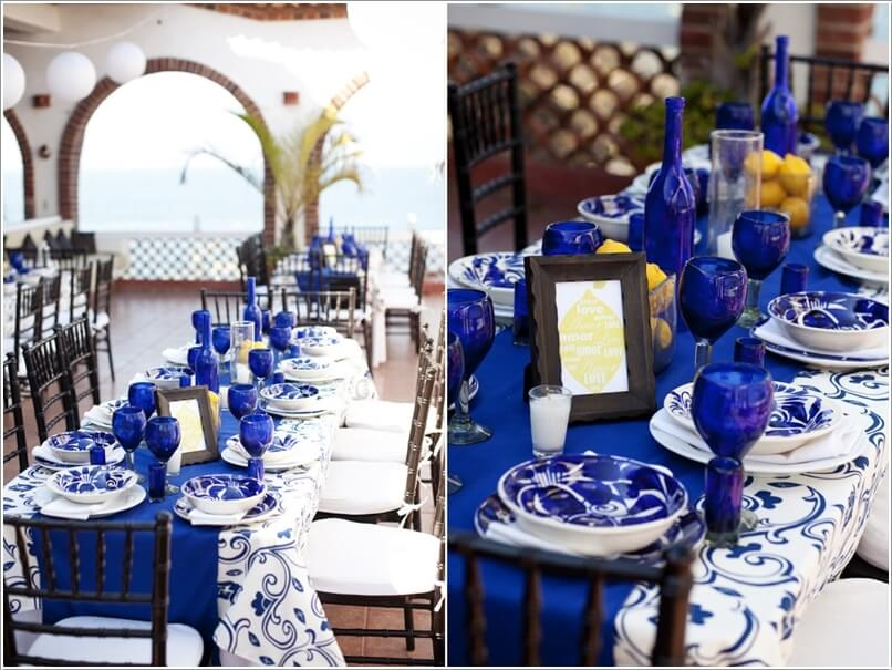 10 Cool Party Table Decoration Ideas You Will Love. Blue And White ...