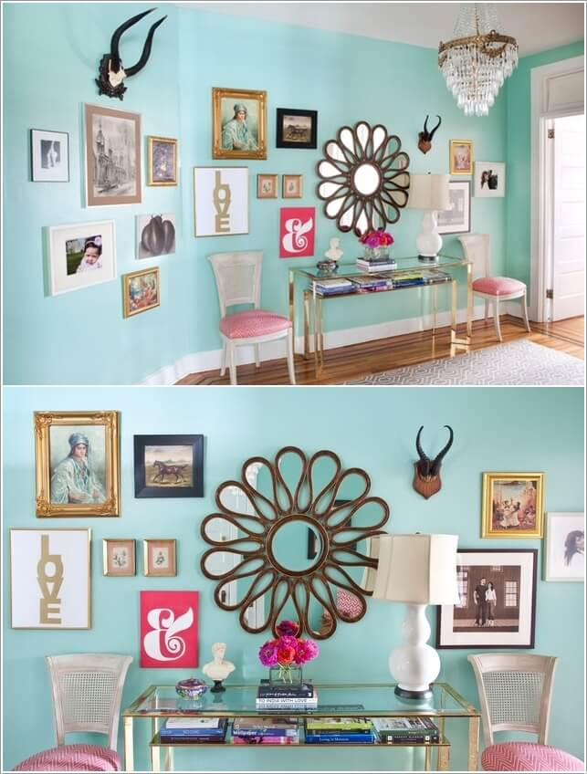 15 Creative Ways to Display Your Picture Frames 4