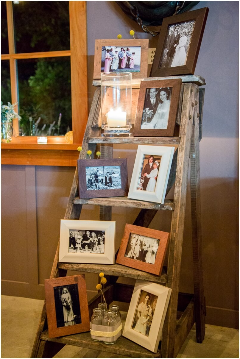 15 creative ways to display your picture frames for How to display picture frames on a table