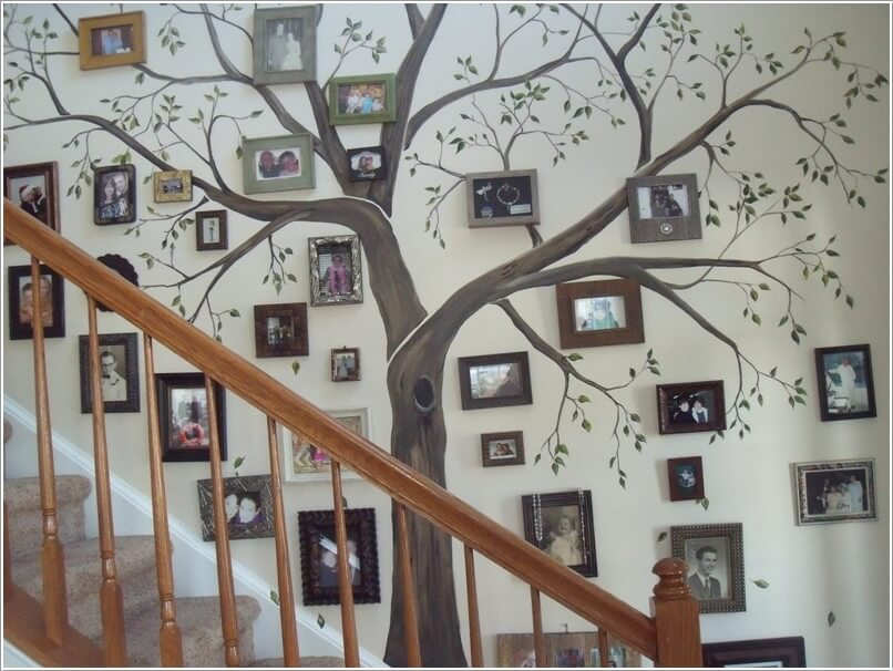 15 creative ways to display your picture frames 1