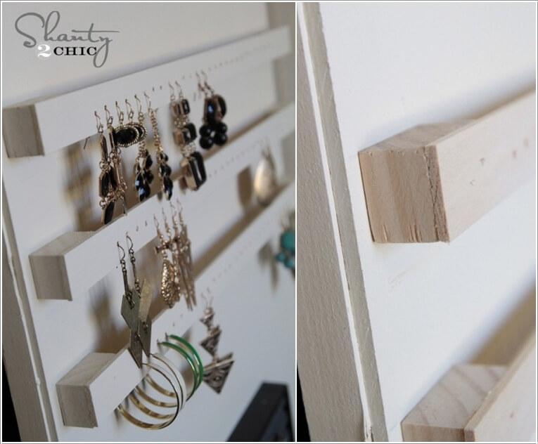 10 Lovely DIY Earring Holder Ideas for You 8