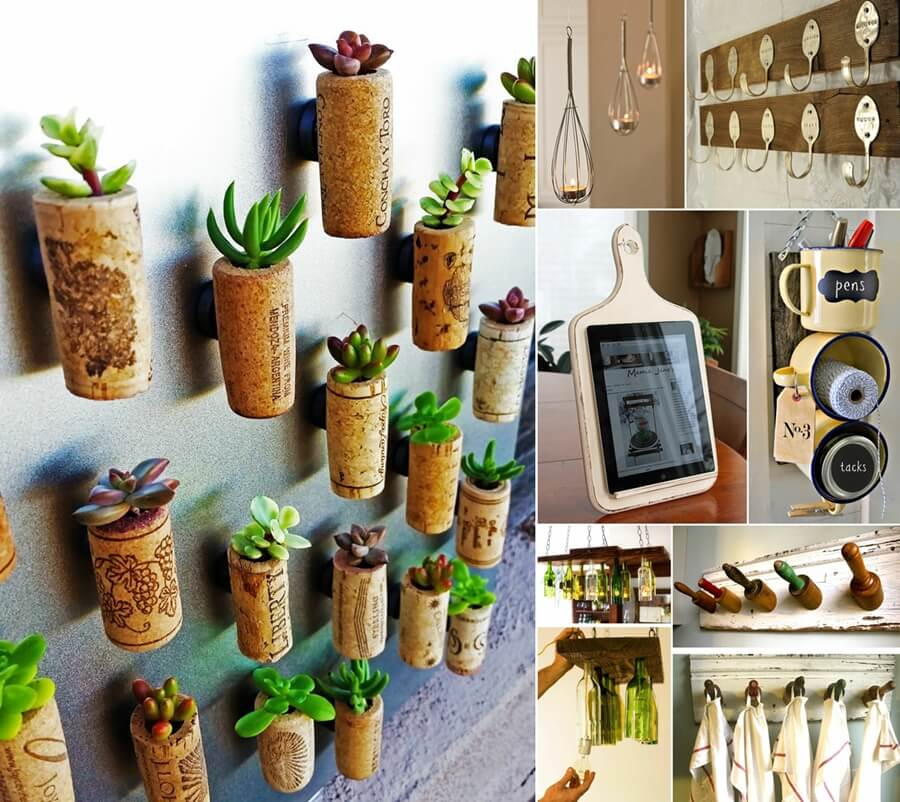 101 amazing old kitchen stuff recycling projects for Cool recycling projects
