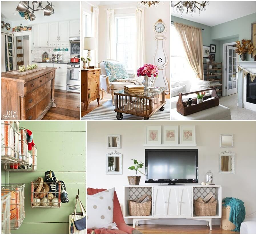 Clever Storage Ideas With Recycled Vintage Finds - Best vintage storage ideas