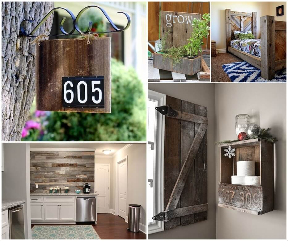 15 Awesome Projects to Make from Barn Wood 1