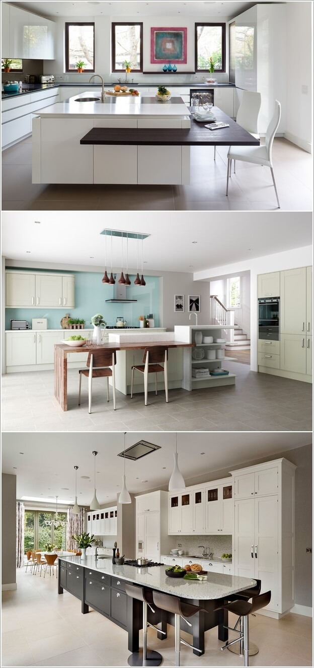 Kitchen island you can eat at - 15 Interesting Elements You Can Add To A Kitchen Island 3