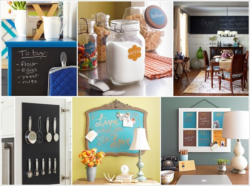 17 Interesting Ways to Decorate with Chalkboard Paint 1