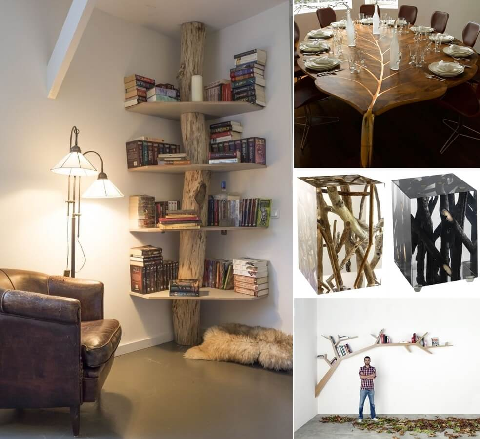 25 cool tree inspired furniture designs you 39 ll love for Design furniture replica ireland