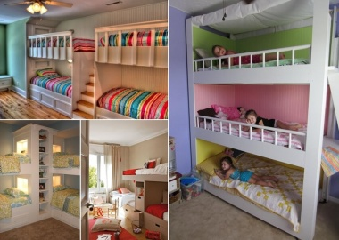 31 Practical Bunk Bed Designs for More Than Two Kids fi