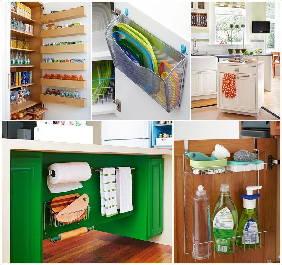 34 thrifty storage ideas for your kitchen for Cheap kitchen storage ideas
