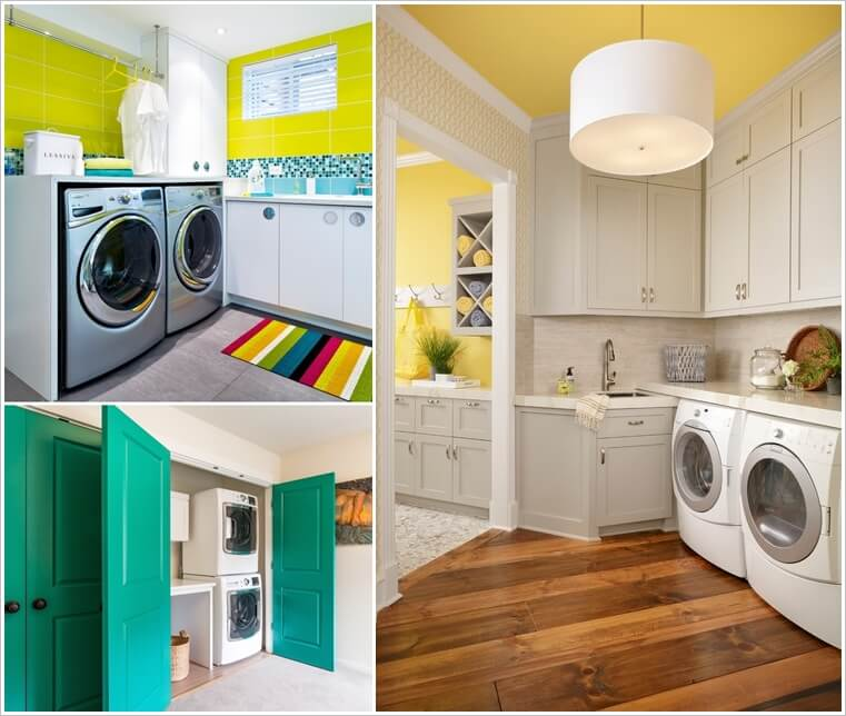 8 Cheerful Ideas to Color Up Your Laundry Room 1