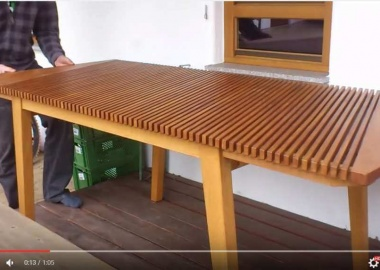 opened Expandable Table