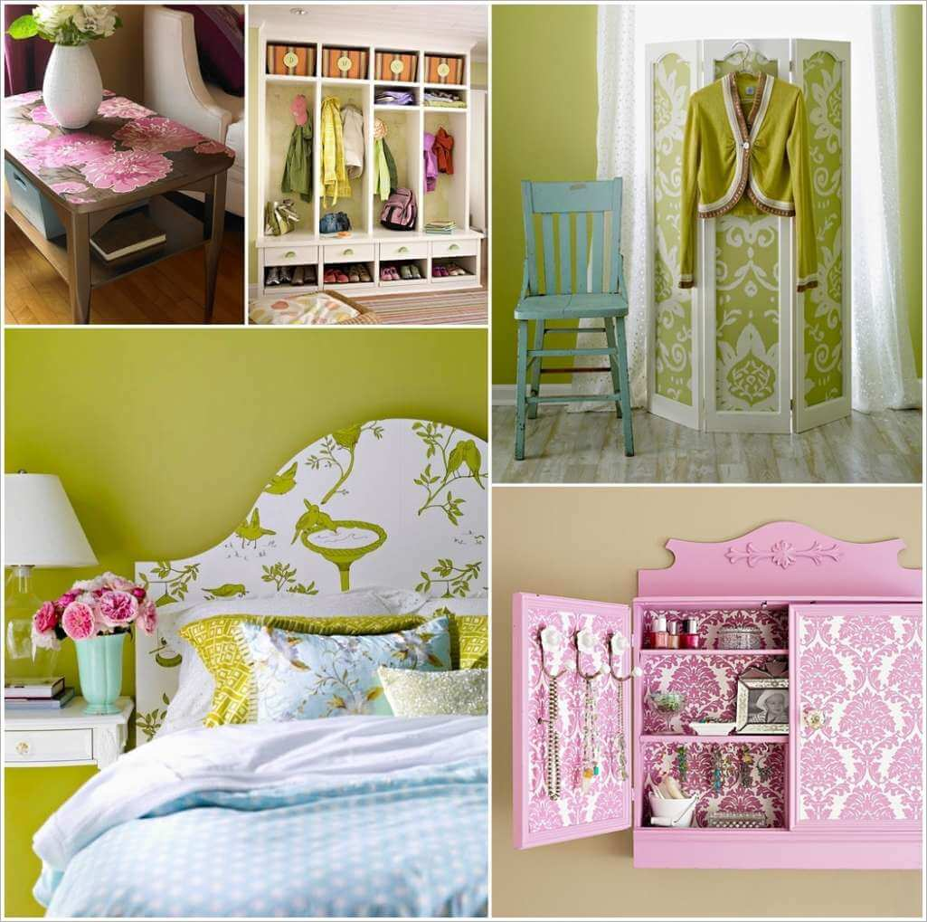 Here are Some Fabulous Projects to Make with a Roll of Wallpaper 1