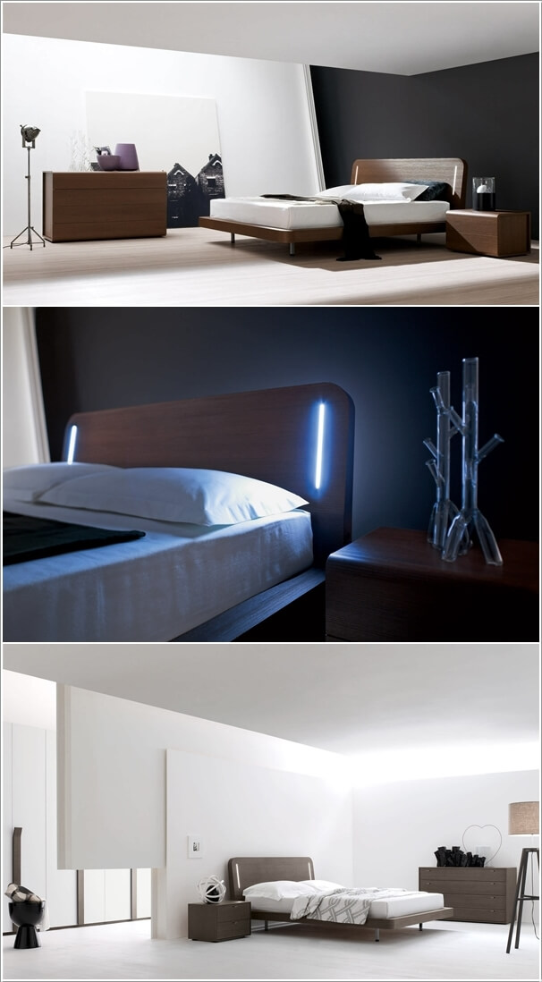 10 Cool Bed Designs with Built-In Lights 3
