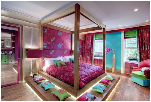10 Cool Bed Designs with Built-In Lights 7