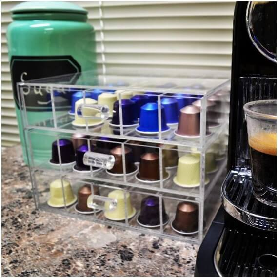 10 Cool Nespresso Capsules Storage Ideas 6