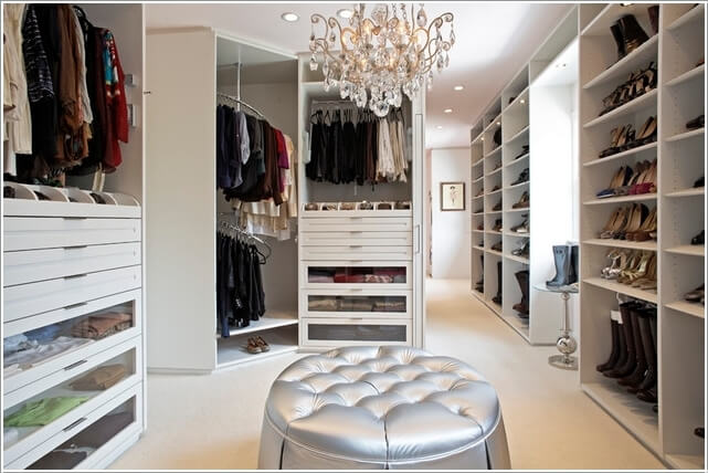 10 cool seating ideas for your walk in closet - Cool walk in closet ideas ...