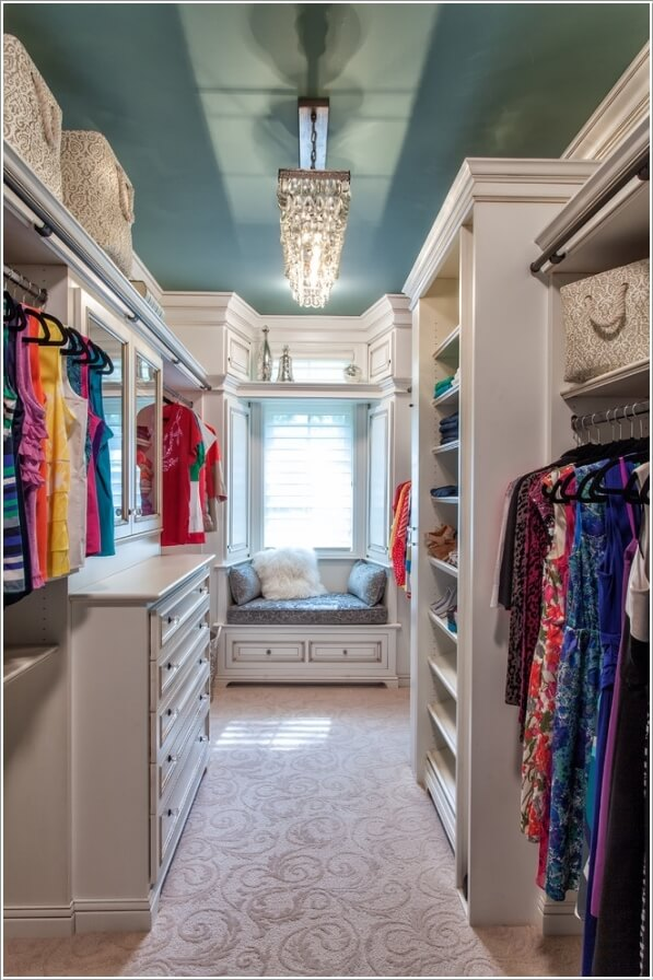 10 cool seating ideas for your walk in closet - Master walk in closet design ...