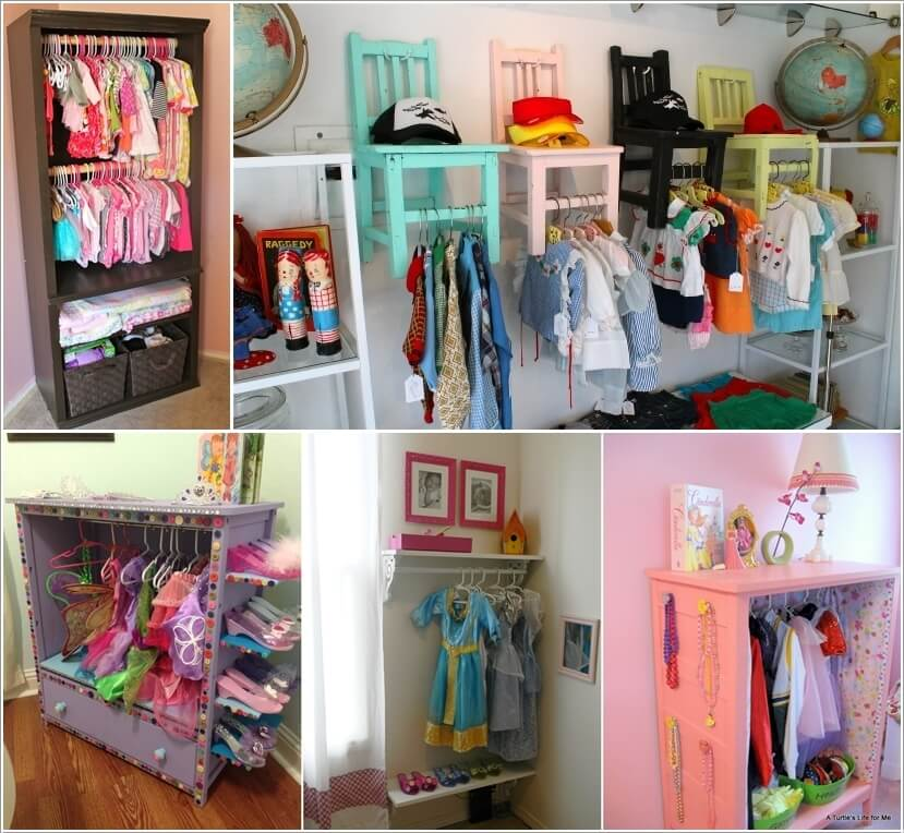 5 cute and clever diy kids 39 closet ideas for Kids room closet ideas