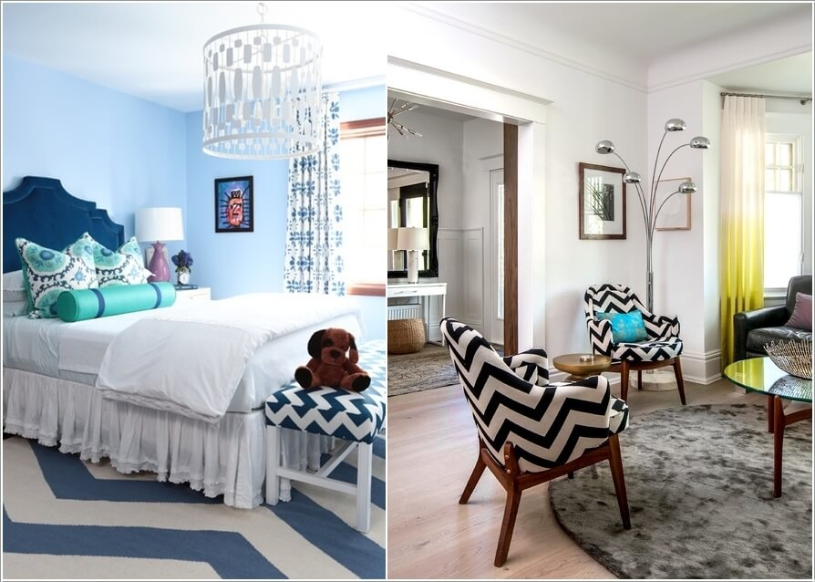 15 Uniquely Chic Ways to Decorate Your Home with Chevron Pattern 4
