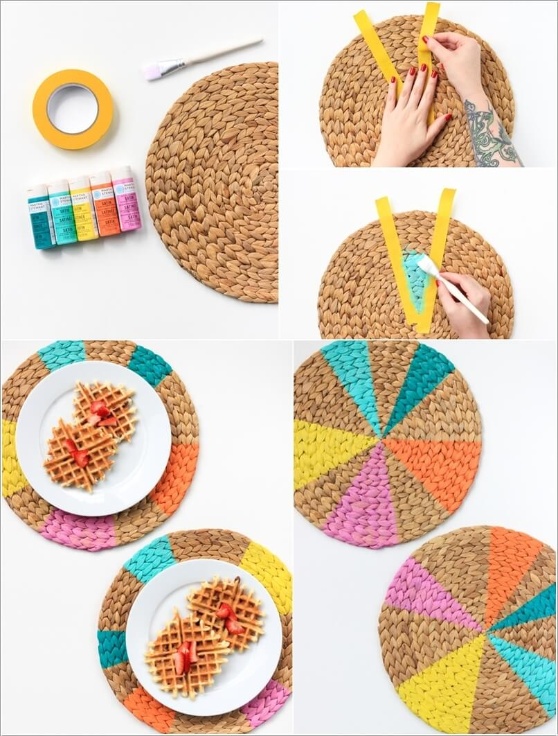 10 Wonderful DIY Placemat Ideas for Your Dining Table 6