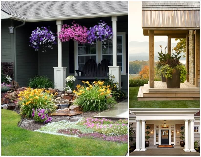 12 Ways to Use Plants for Decorating Your Porch 1