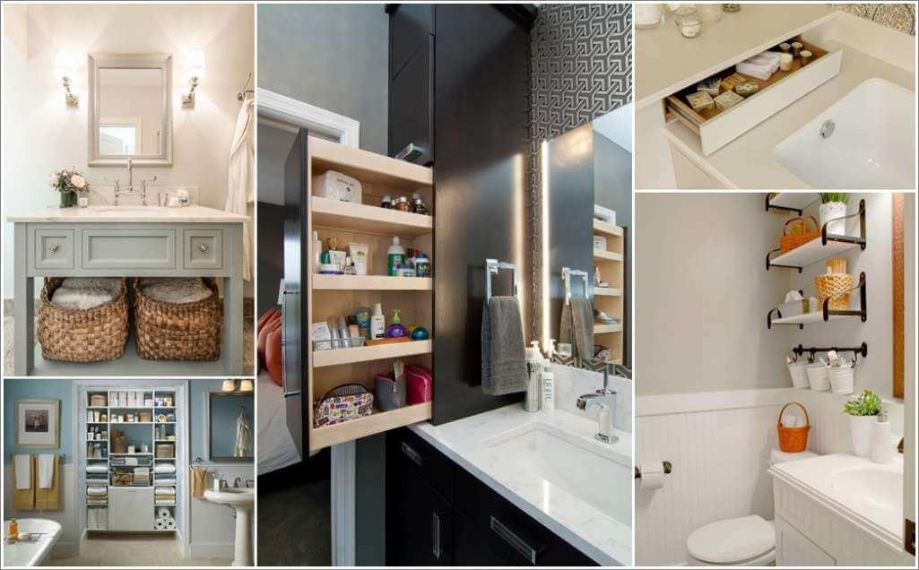 13 Bathroom Storage Ideas That Are Design-Friendly Too 1