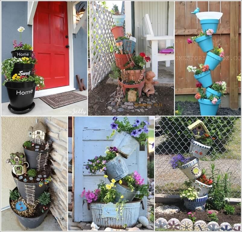 15 Fabulous Flower Tower Ideas for Your Garden 1