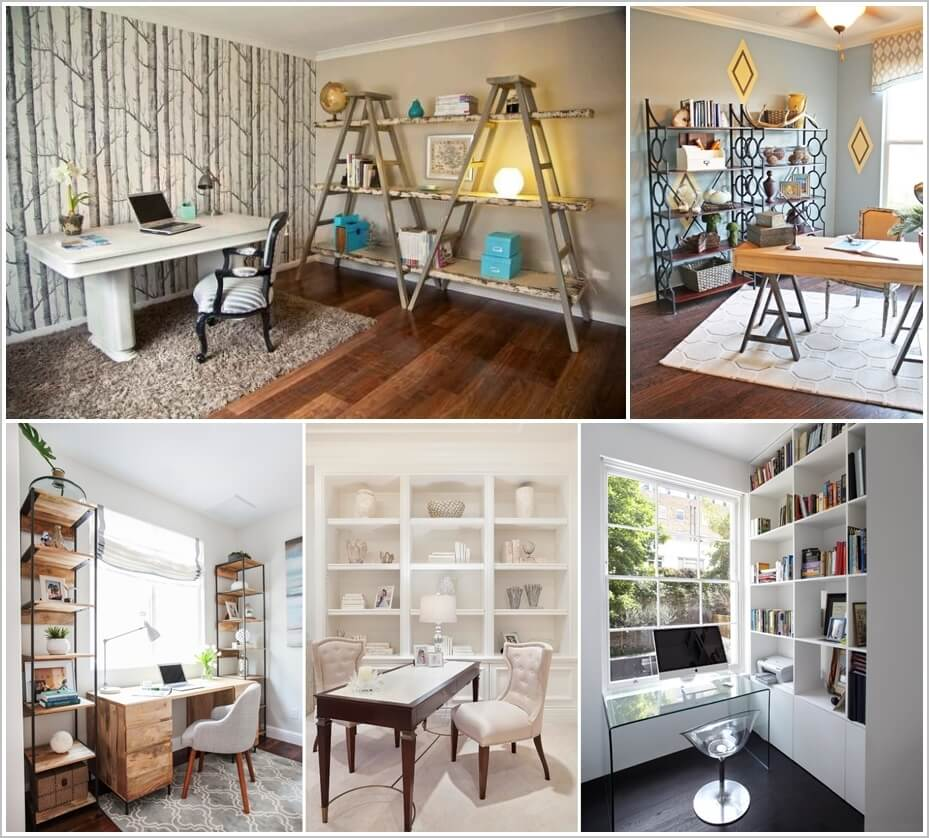 20 awesome shelving design ideas for your home office 1