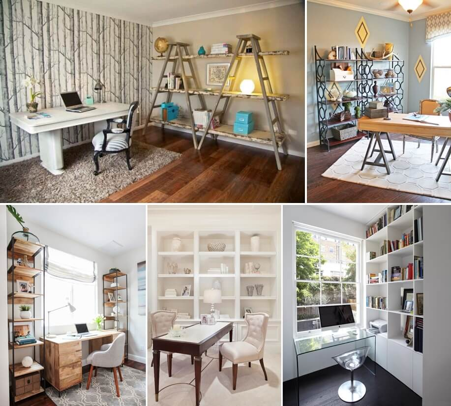 20 awesome shelving design ideas for your home office Interior design home office ideas