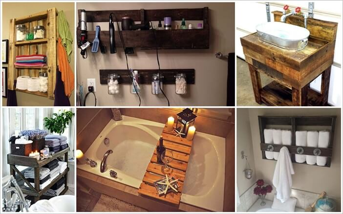 24 Wonderful Pallet Projects for Your Bathroom 1