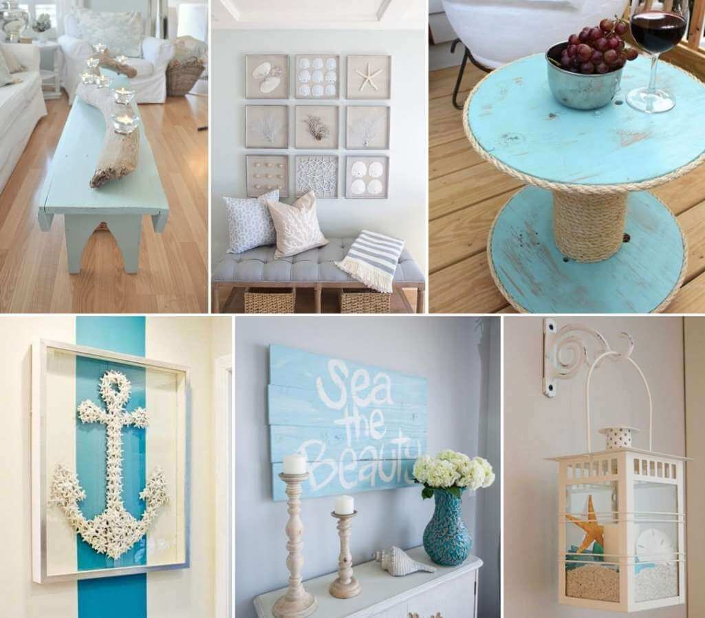 50 amazing diy nautical home decor projects for Home design ideas handmade