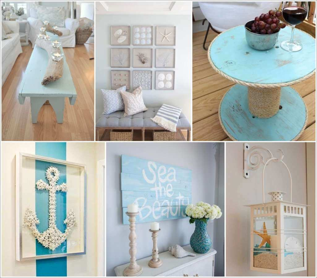 50 amazing diy nautical home decor projects for Handmade home decorations ideas