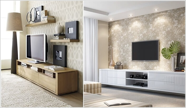 Design an Interesting and Chic TV Wall