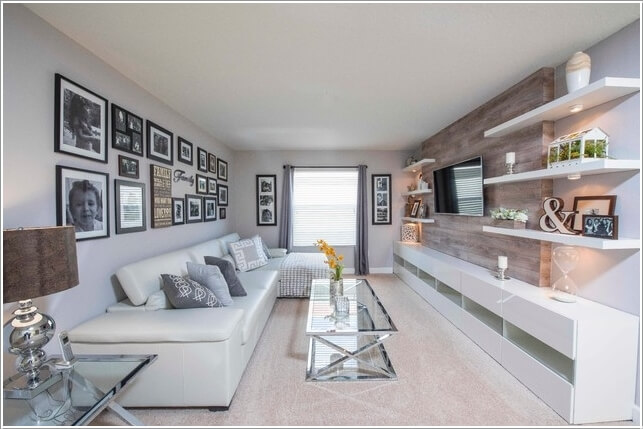 Design an Interesting and Chic TV Wall 4