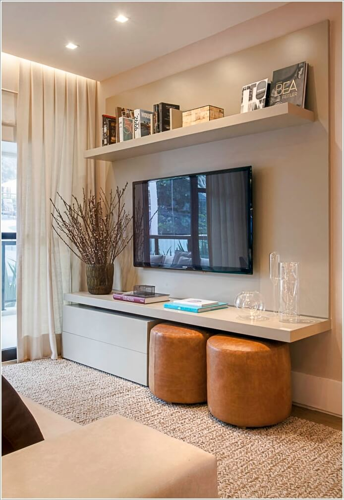 Design an Interesting and Chic TV Wall 1