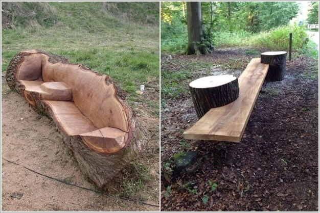10 Absolutely Wonderful Tree Stump Landscaping Ideas 5
