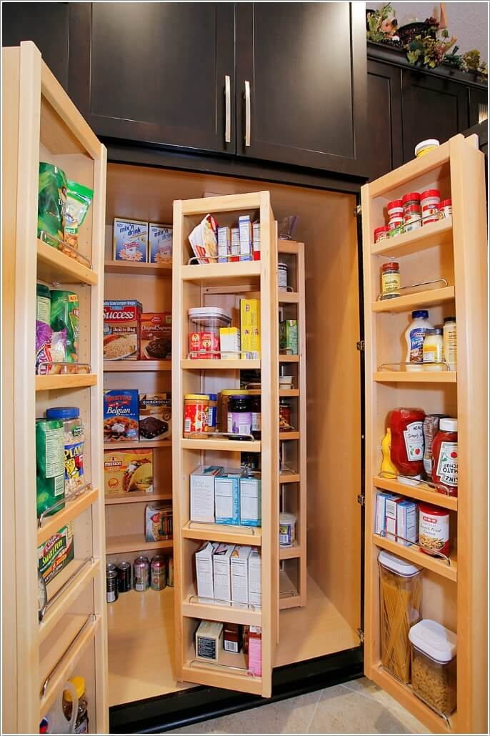 10 Clever Ideas to Store More in a Small Space Pantry 10
