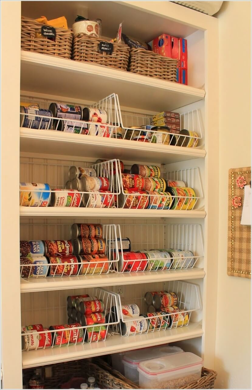 10 Clever Ideas to Store More in a Small Space Pantry 7