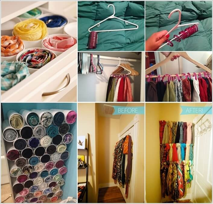 10 Clever Ways to Organize Your Scarves a