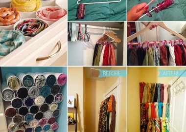 10 Clever Ways to Organize Your Scarves fi
