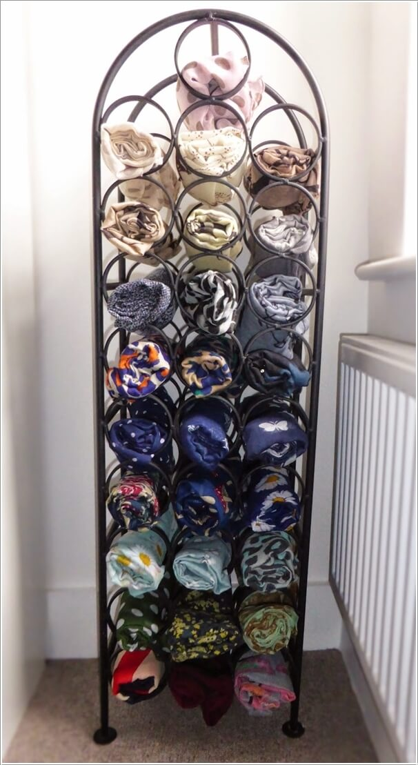 10 Clever Ways to Organize Your Scarves 4