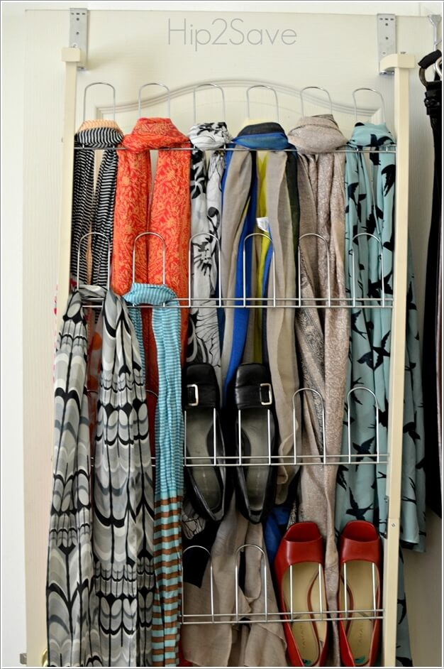 10 Clever Ways to Organize Your Scarves 5