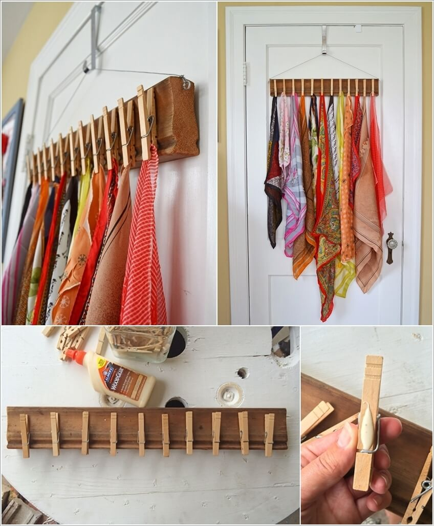 10 Clever Ways to Organize Your Scarves 8