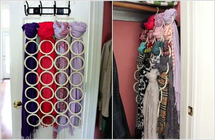 10 Clever Ways to Organize Your Scarves 10