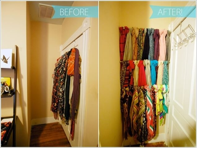 10 Clever Ways to Organize Your Scarves 1