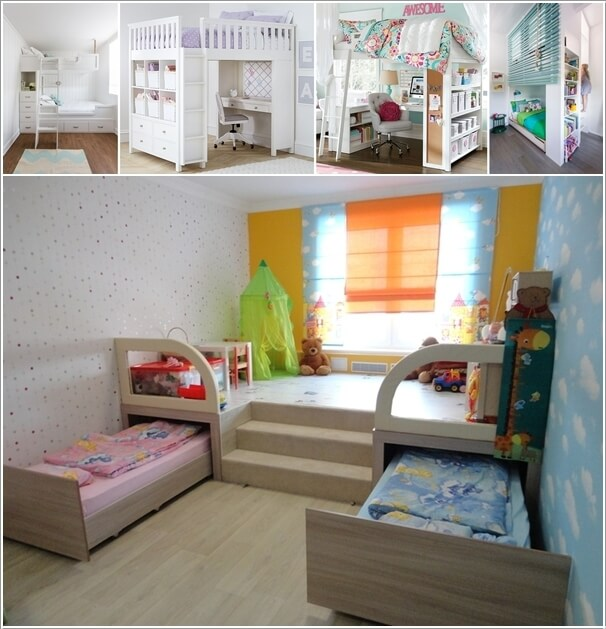clever ways to save space in a small kids 39 room a