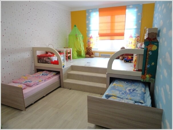 5 clever ways to save space in a small kids 39 room for Best beds for small rooms